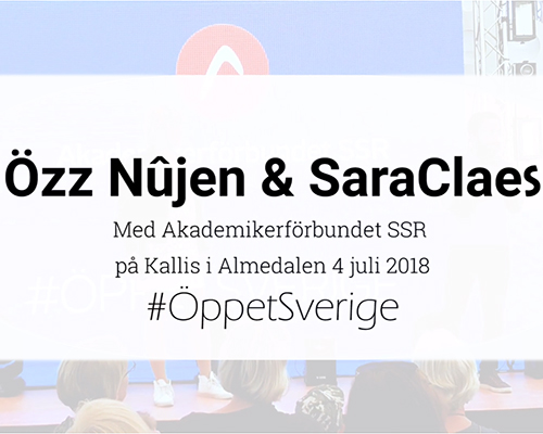 SaraClaes i Almedalen 2018 - klippt version