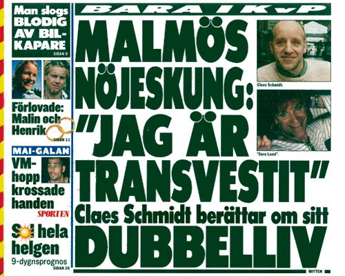 Sara / Claes i KvällsPosten onsdag 13 augusti -03